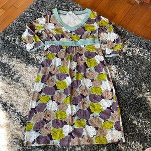 Boden V-neck empire waist floral dress 8